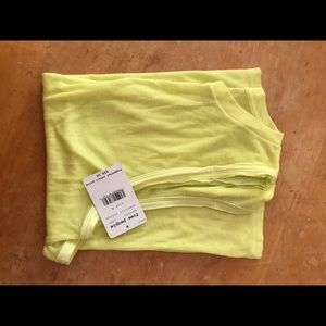 Free People Om Lime Ribbed Tank Top